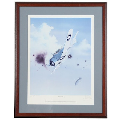 """Gary Ball Offset Lithograph of """"The Silencer"""", Signed by Commanding Officer"""