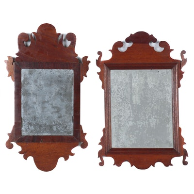 Chippendale Style Mixed Hard Wood Framed Mirrors, 20th Century