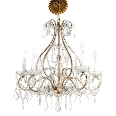 Cut Glass Five-Socket Chandelier, 21st Century