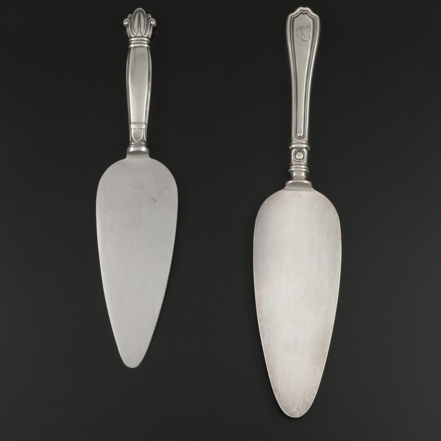 "Reed & Barton ""Hepplewhite"" and Web ""Ballet"" Sterling Silver Cake Servers"