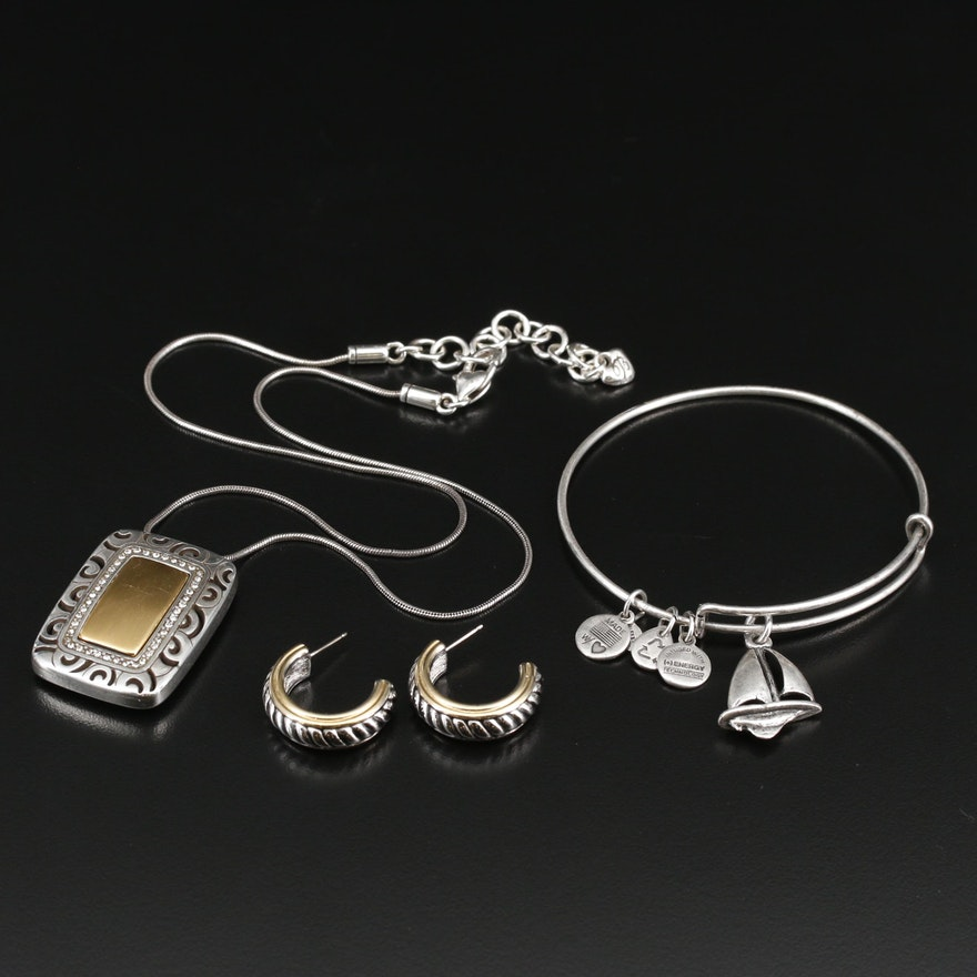 Rhinestone Jewelry Featuring Alex and Ani and Brighton