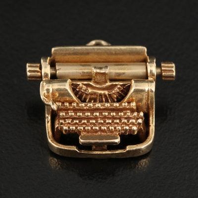 Vintage 14K Articulated Typewriter Charm