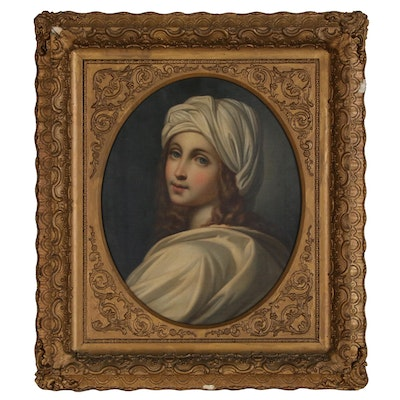 "Oil Painting After Guido Reni's ""Portrait of Beatrice Cenci"""
