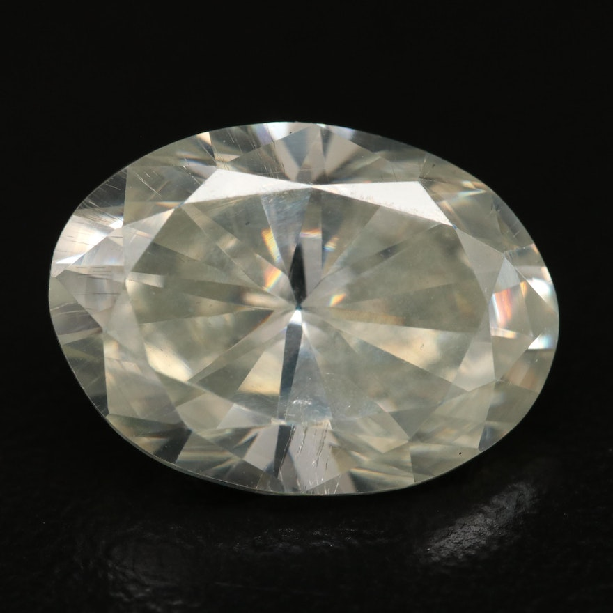 Loose Oval Faceted Moissanite
