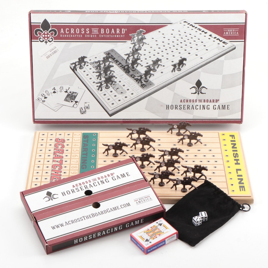 Across the Board Horse Racing Card and Dice Game