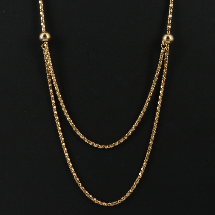 14K Popcorn Chain Necklace
