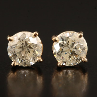 14K 1.61 CTW Diamond Stud Earrings