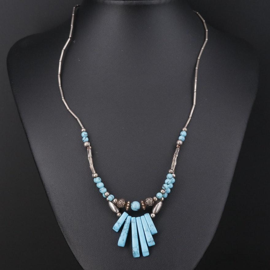 Southwestern Style Howlite Beaded Necklace