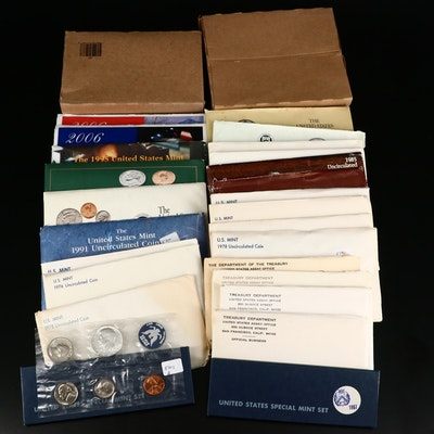 27 US Mint Uncirculated Coin Sets, 1965-2010
