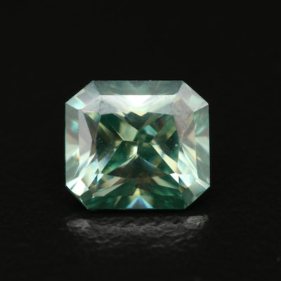 Loose Laboratory Grown Cut Corner Square Faceted Moissanite