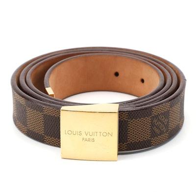 Louis Vuitton Inventeur Damier Coated Canvas and Leather Belt