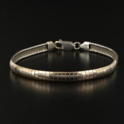 Sterling Silver Omega Chain Bracelet