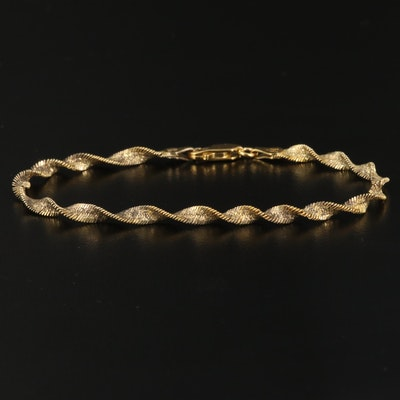 Milor Sterling Silver Twisted Herringbone Bracelet
