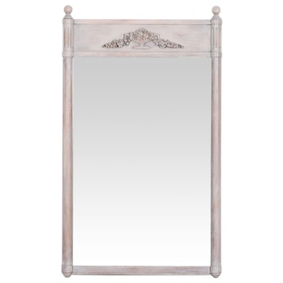Grey Painted Neoclassical Wall Mirror, Mid-20th Century