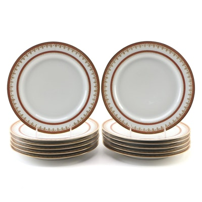 Haviland & Co. for Koch & Braunstein Gilt Porcelain Dinner Plates