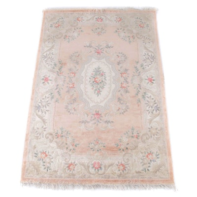 5'10 x 9'6 Hand-Knotted Floral Silk Rug