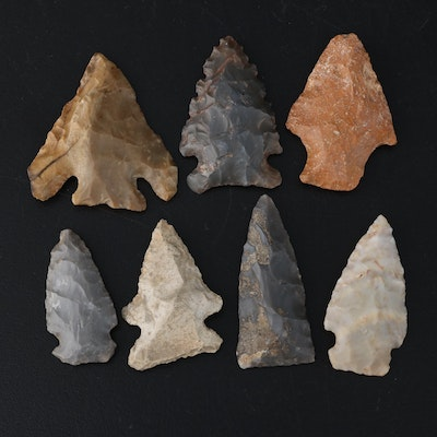 Seven Arrowheads and Projectile Points
