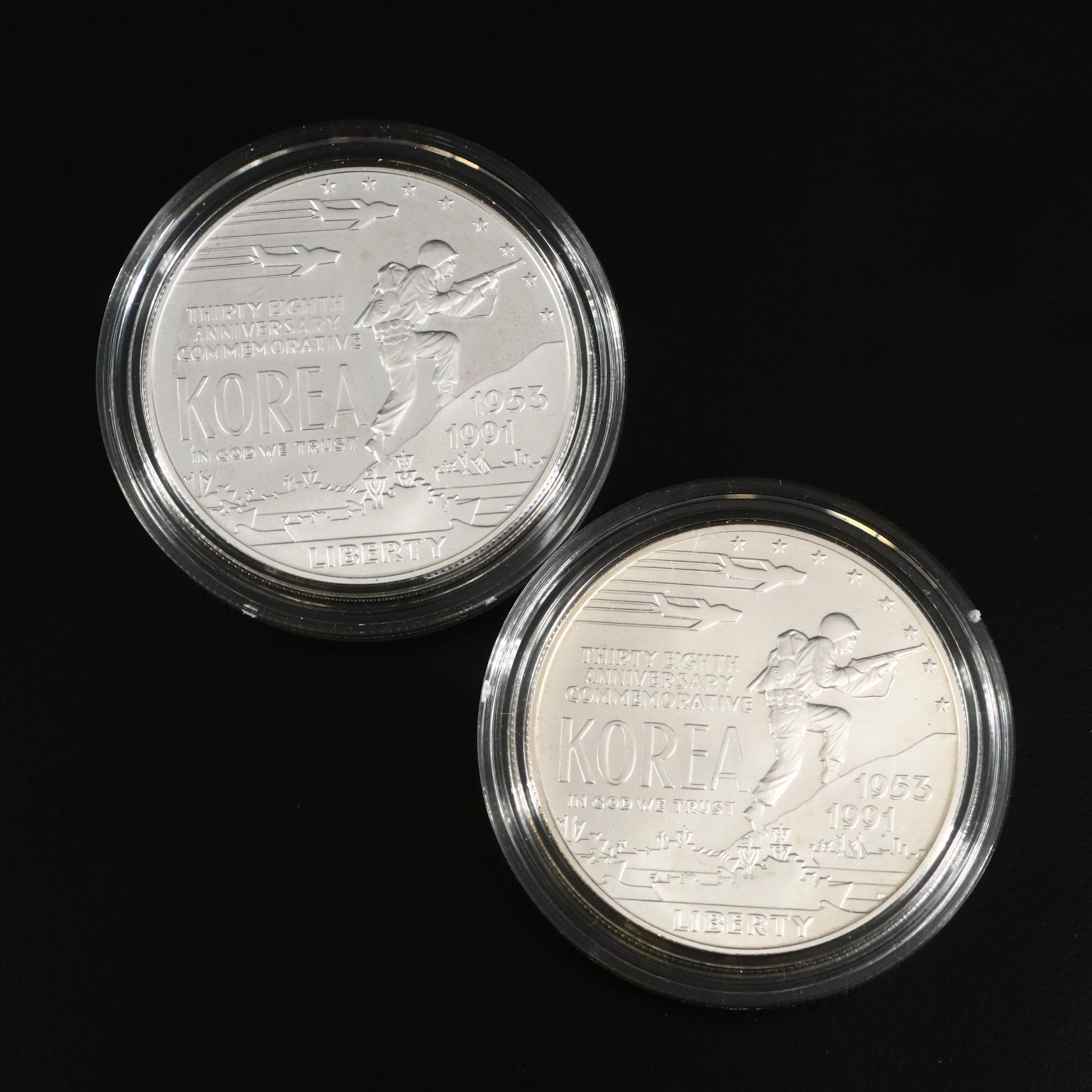 1991-D Korean War Commemorative Silver Dollar Mint State