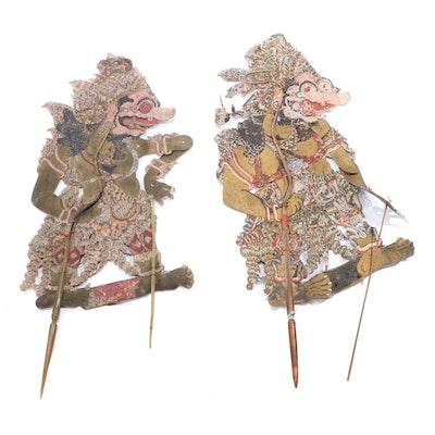 Indonesian Wayang Kulit Shadow Puppets of Kumbakarna or Buto Raton