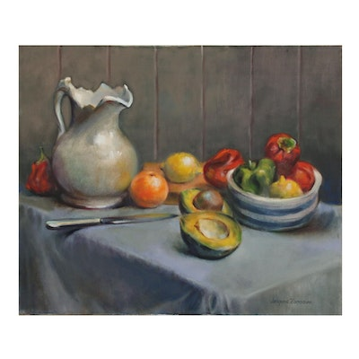Jacques Zuccaire Still Life Oil Painting, 20th to 21st Century