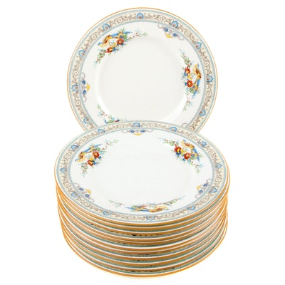 Minton Porcelain Bread and Butter Plate Set of Twelve, Early to Mid 20th C