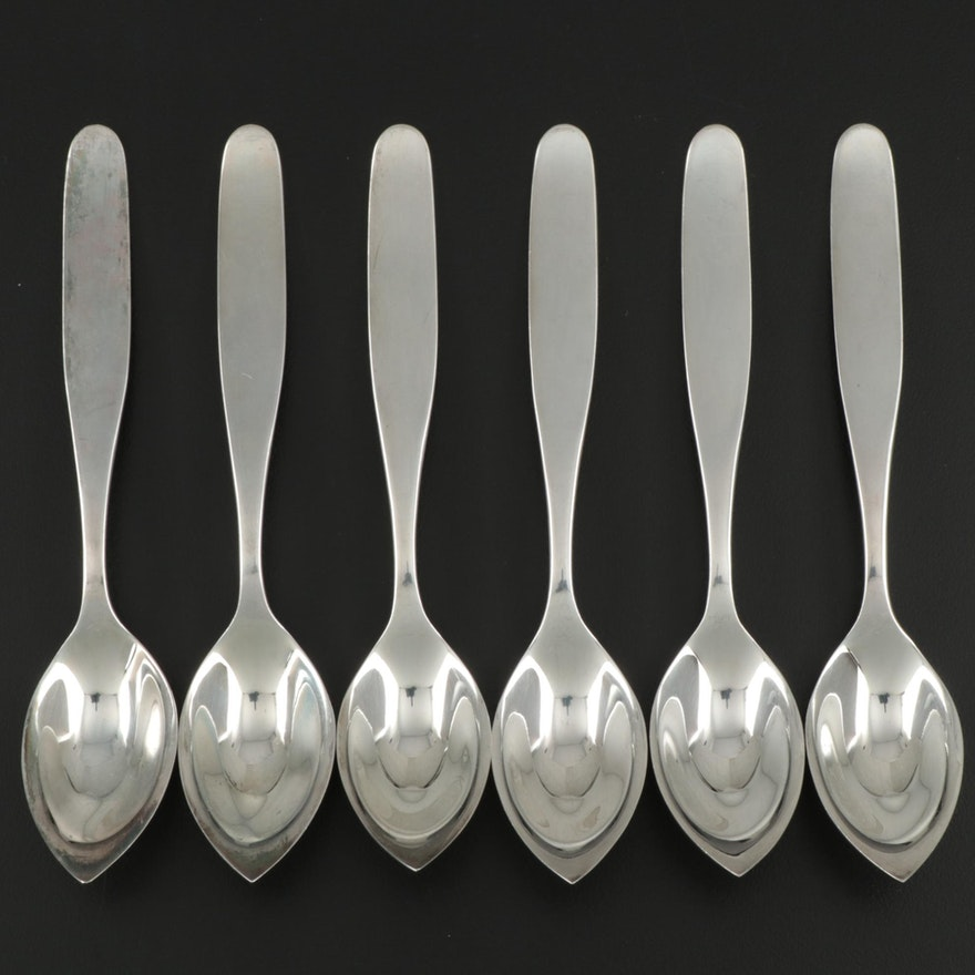 Otto Wolter Modern Sterling Silver Grapefruit Spoons, Early to Mid-20th Century