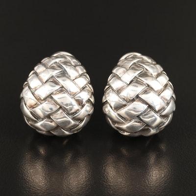 Scott Kay Sterling Woven Motif Drop Earrings