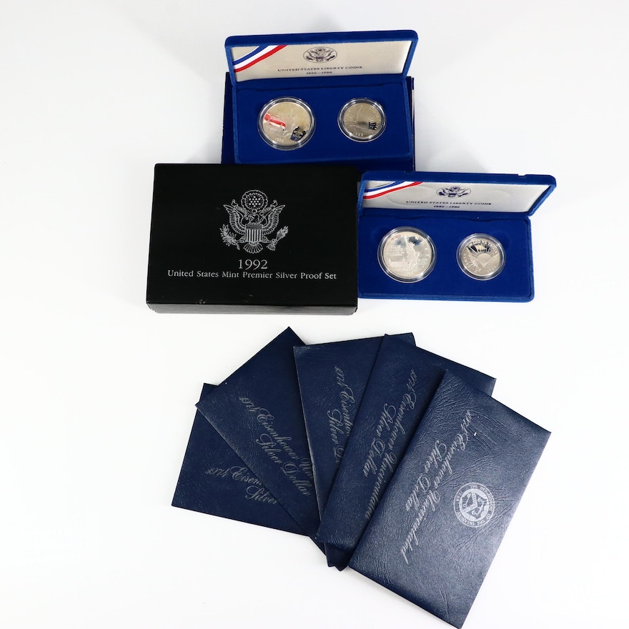 Collection of Silver Coins and Coin Sets