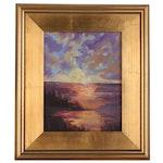 Oil Painting of Seascape Scene