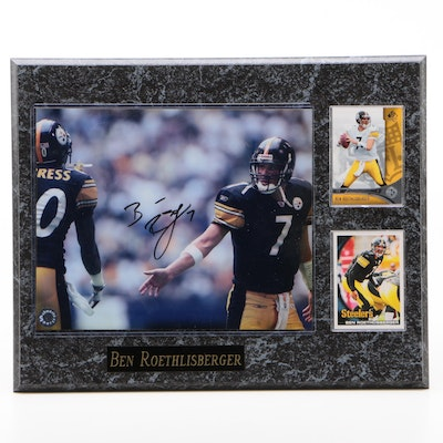 Ben Roethlisberger Signed Pittsburgh Steelers NFL Football Plaque