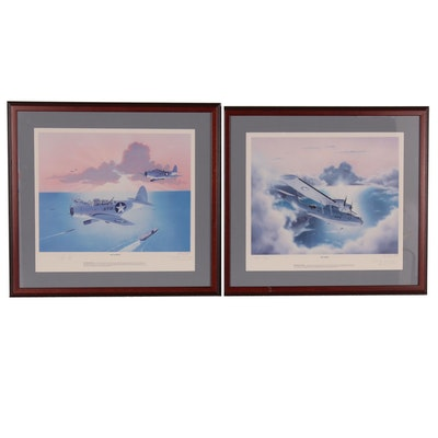 "Gary Ball Offset Lithographs ""The Sacrifice"" and ""The Seeker"" Signed by Pilots"