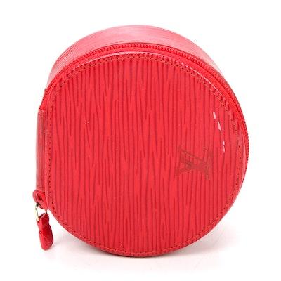 Louis Vuitton Red Epi Ecrin Bijoux 10 Jewelry Case