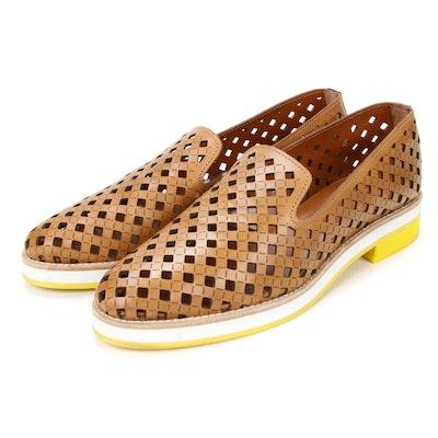 Aquatalia Laser Cut Leather Loafers