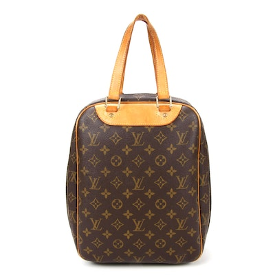 Louis Vuitton Excursion Travel Bag in Monogram Canvas and Vachetta Leather