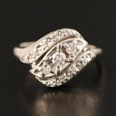 Vintage 14K Kaspar & Esh Diamond Ring