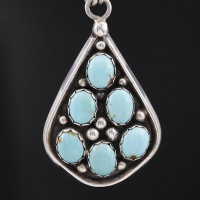 Ella Cowboy Navajo Diné Sterling Silver Turquoise Necklace