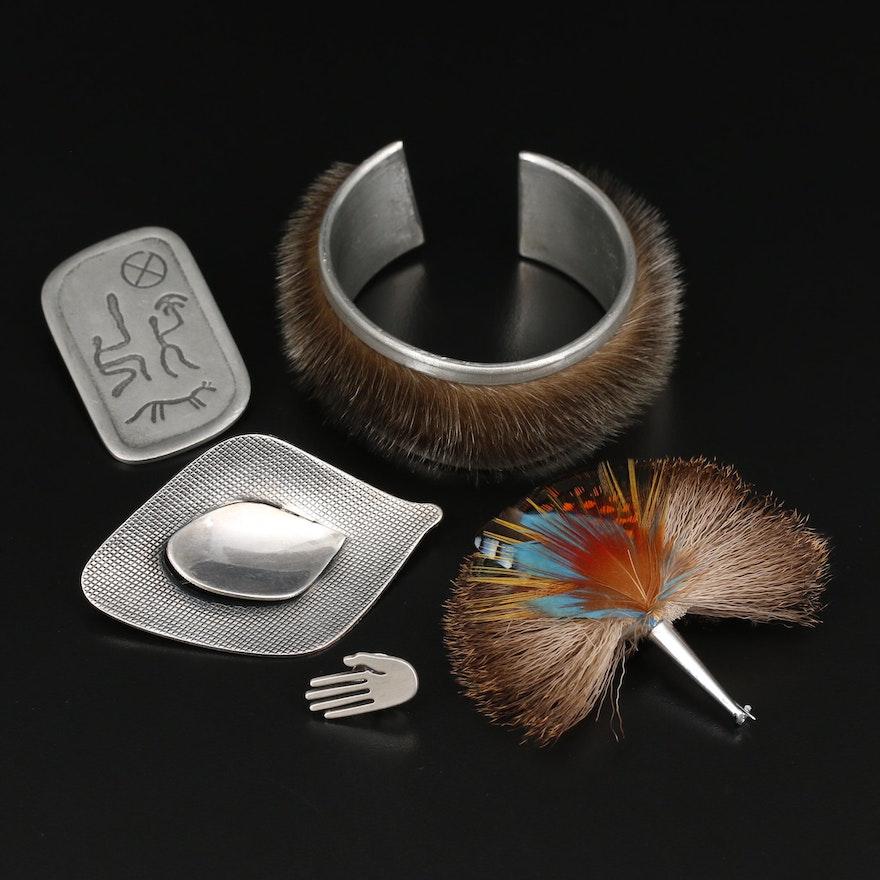Scandinavian Jewelry Assortment Featuring Jacob Tostrup Brooch