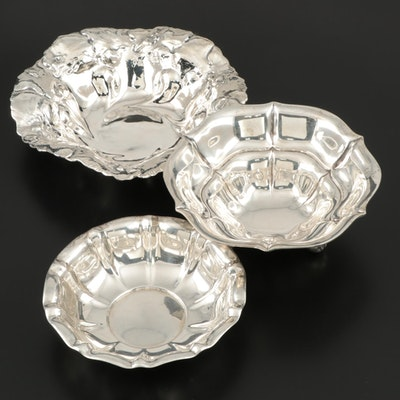 Adelphi, M. Fred Hirsch Co. Sterling Silver and a German 800 Silver Bowls