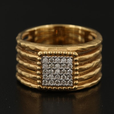 I. Reiss 14K Diamond Band
