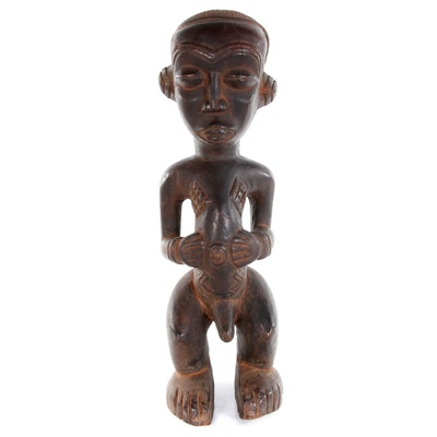 Luba Carved Wood Figure, Democratic Republic of the Congo