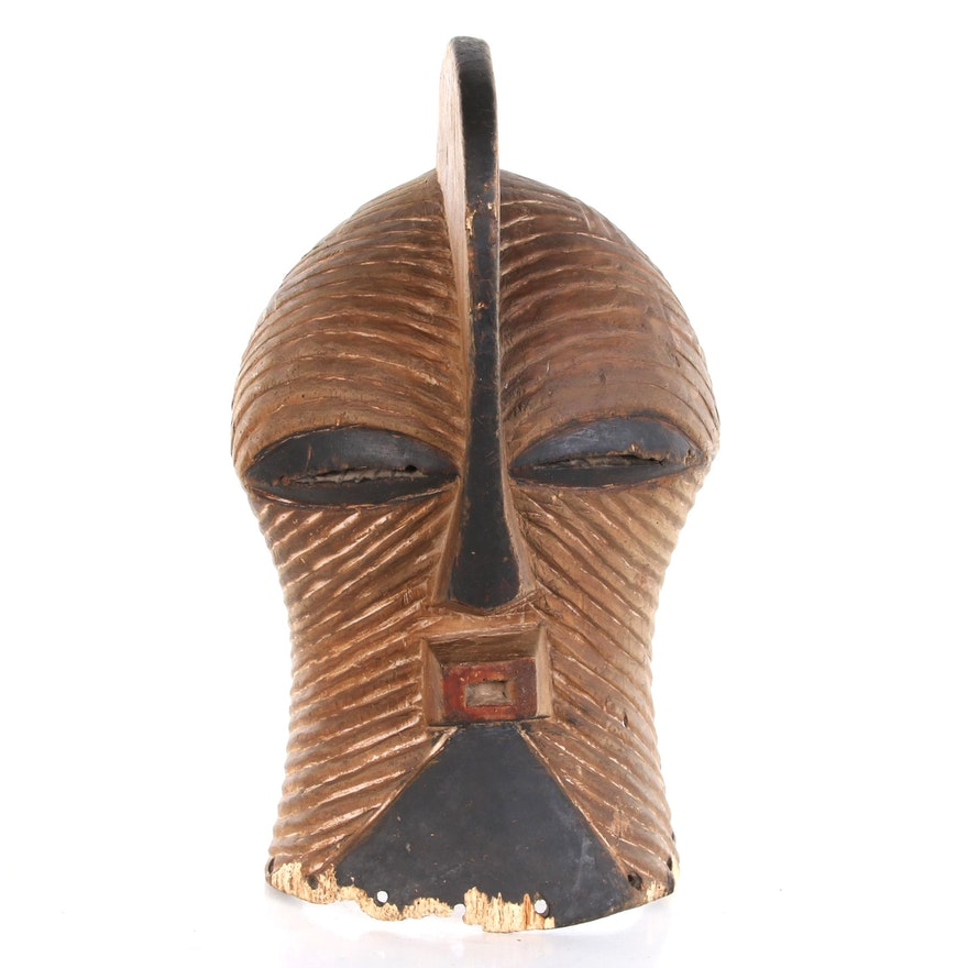 "Songye ""Kifwebe"" Hand-Carved Wood Mask, 20th Century"