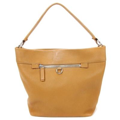 Prada Pebbled Leather Satchel Handbag