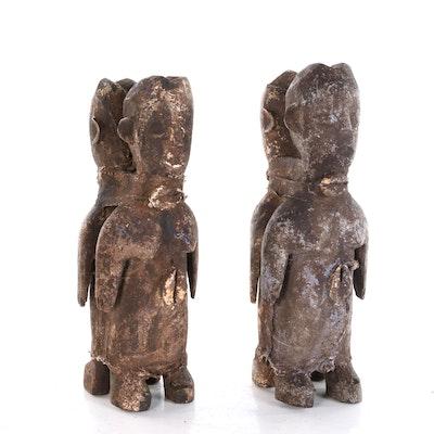 Mbuti Hand-Carved Wood Fertility Dolls, Democratic Republic of the Congo