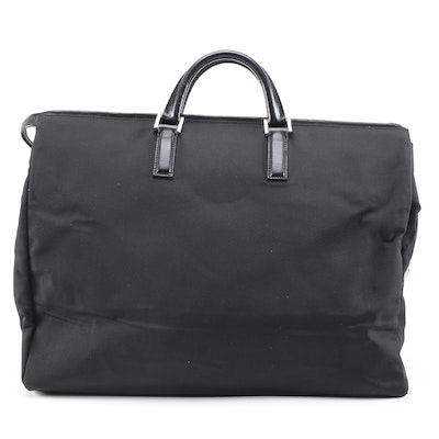 Gucci Black Canvas and Leather Weekender Bag