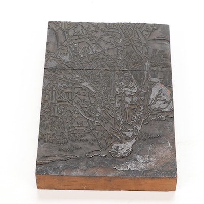 East Asian Carved Wooden Printing Block