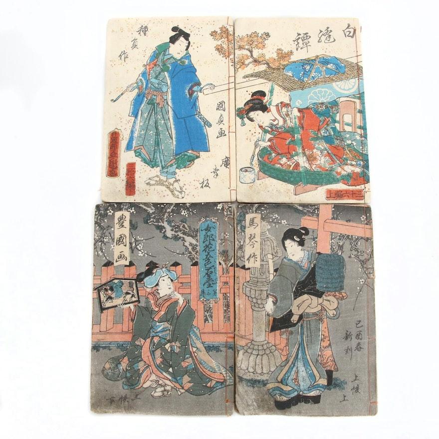 Utagawa Kunisada Ehon Woodblock Booklets, Mid-19th Century
