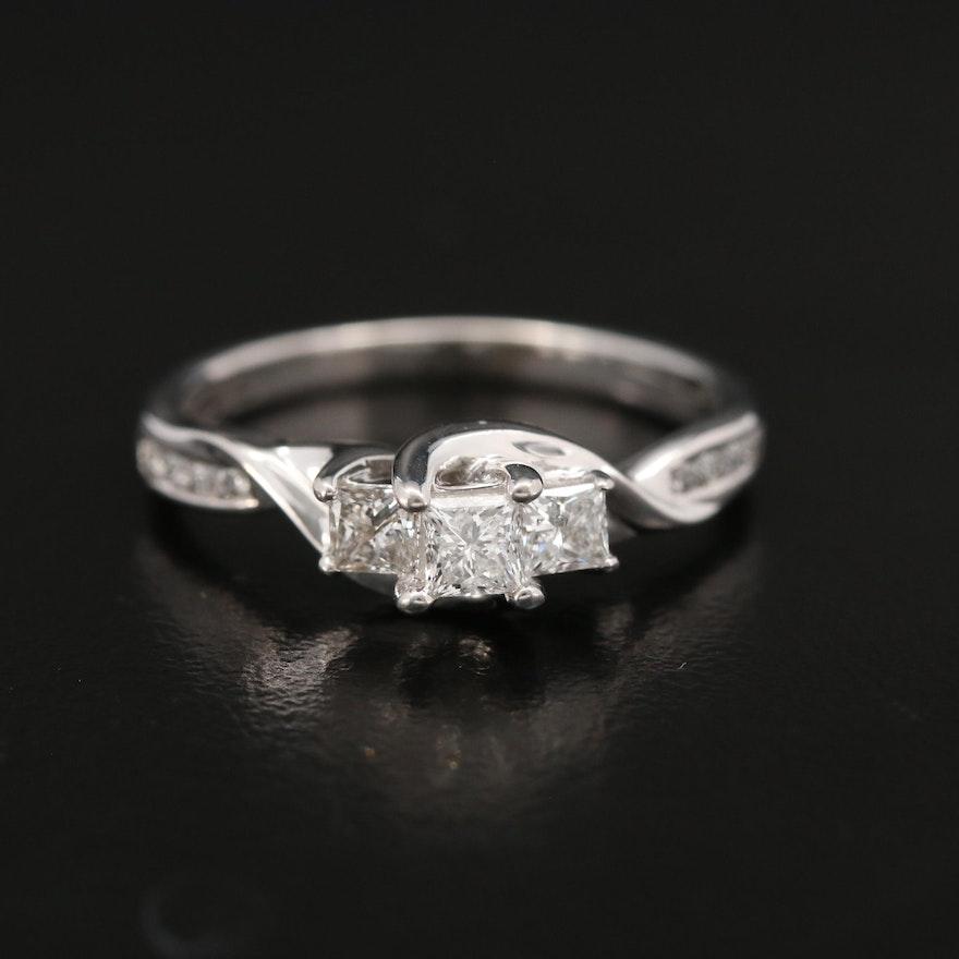 14K White Gold 0.35 CTW Diamond Ring
