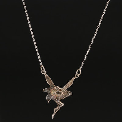 Sterling Silver Stationary Fairy