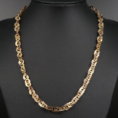 Sterling Fancy Link Necklace