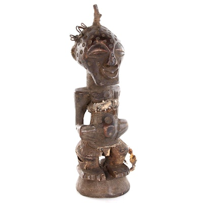 Songye Hand-Carved Wooden Power Figure, Democratic Republic of the Congo